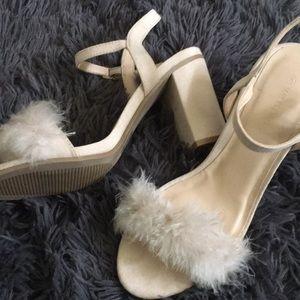 Faux fur simple heel